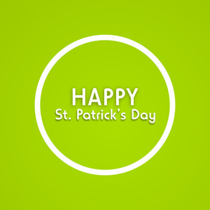 Happy St. Patricks Day Concept With Stylish Text On Green Background.