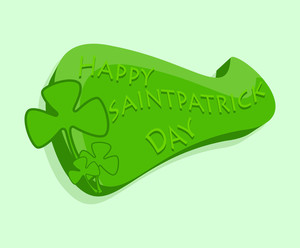 Happy St. Patrick's Day Greeting Banner Vector