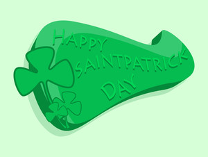 Happy St. Patrick's Day Greeting Banner