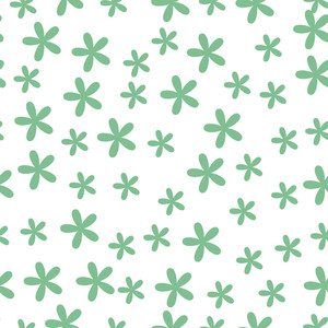 Happy St. Patricks Day Seamless Pattern With Beautiful Flowers In Green Color On Abstract White Background.