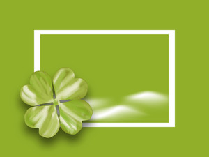 Happy St. Patrick's Day With Clover Leaf And Space For Your Text.