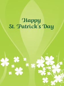 Happy St. Patrick's Shamrock Pattern Card