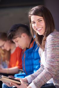 Happy student