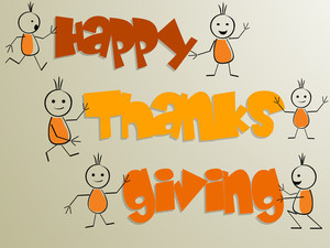 Happy Thanks Giving Day Celebrations Poster