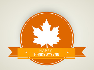 Happy Thanksgiving Day Concept With Beautiful Autumn Leaf