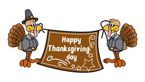 Happy Thanksgiving Day Greeting Banner Vector