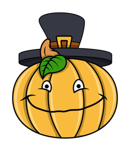 Happy Thanksgiving Day Pumpkin Vector