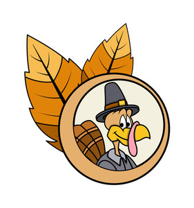 Happy Turkey Bird Vector Character