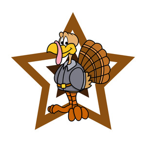 Happy Turkey With Star