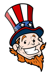Happy Uncle Sam Cartoon Face