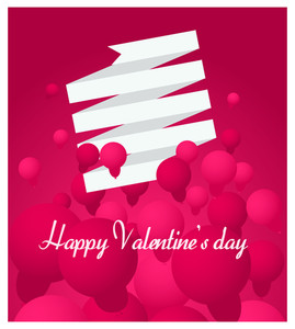 Happy Valentine's Day Balloons Greeting Card