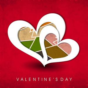 Happy Valentines Day Vintage Background