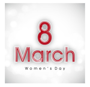 Happy Women's Day Background With Text 8 March.