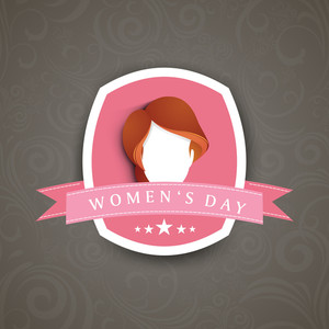 Happy Womens Day Greeting Card Or Poster Design With Illustration Of A Girl