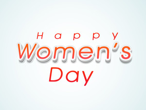 Happy Womens Day Greeting Card Or Poster Design With Stylish Text On Green Background.