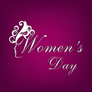 Happy Womens Day Greeting Card Or Poster Design With Stylish Text On Purple Background.