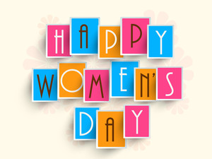 Happy Womens Day Greeting Card Or Poster Design With Stylish Text