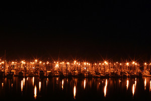 Harbor At Night