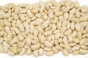 Haricot Beans On White Background