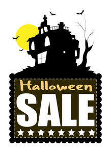 Haunted Haouse Halloween Sale Banner