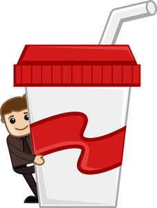 Have A Drink - Cartoon Business Vector Character