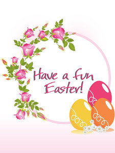 Have A Fun Easter Card With Three Egg