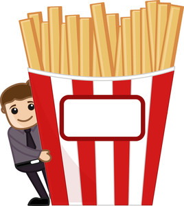 Have Some Snacks - Cartoon Business Vector Character