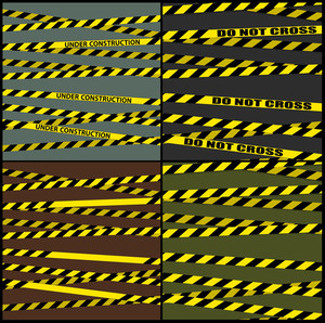 Hazard Lines Vector Backgrounds