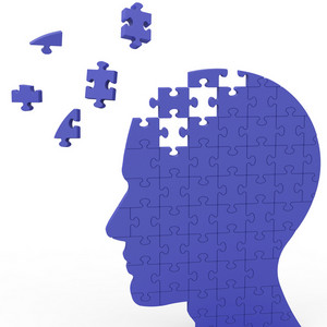 Head Puzzle Shows Slipping Ideas