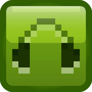 Headphones Green Tiny App Icon