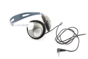 Headphones With Cord On White