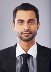 Headshot of a Handsome Middle Eastern Businessman