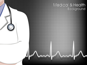 Health And Medical Background With Doctor