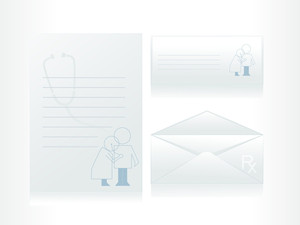 Health Care Worker And Man On The Letter Background