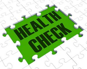 Health Check Puzzle Shows Health Care