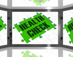 Health Check Showing Medical Monitoring
