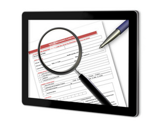 Health Insurance Form  Show  On Tablet