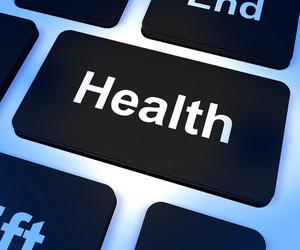 Health Key Showing Online Healthcare