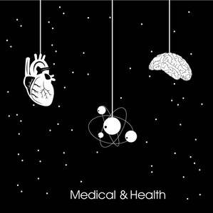 Health & Medical Concept With Health & Medical Concept With Hanging Heart