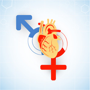 Health & Medical Concept With Heart On Abstract Background.