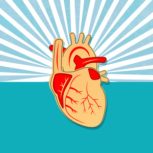 Health & Medical Concept With Heart Shape Design