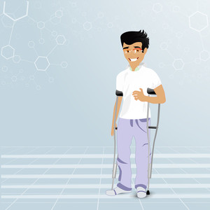 Health & Medical Concept With Illustrator Of A Doctor On Grey Background.