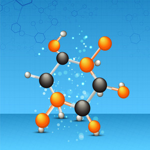 Health & Medical Concept With Molecules On Blue Background.