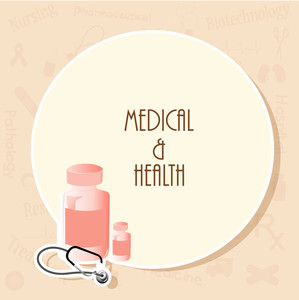 Health & Medical Concept With Stylish Text