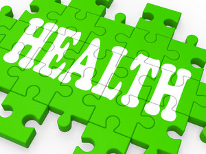 Health Puzzle Shows Medical Care