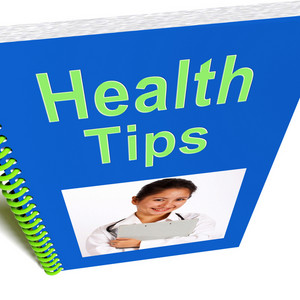 Health Tips Book Shows Wellbeing Or Healthy
