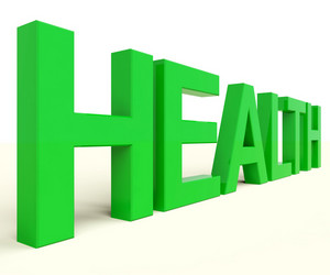 Health Word In Green Showing Healthy Condition