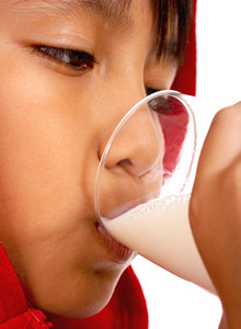 Healthy Kid Drinking Milk