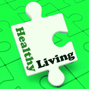 Healthy Living Shows Fitness And Nutrition Lifestyle