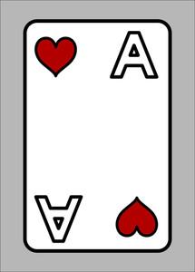 Heart Ace - Cartoon Vector Illustration